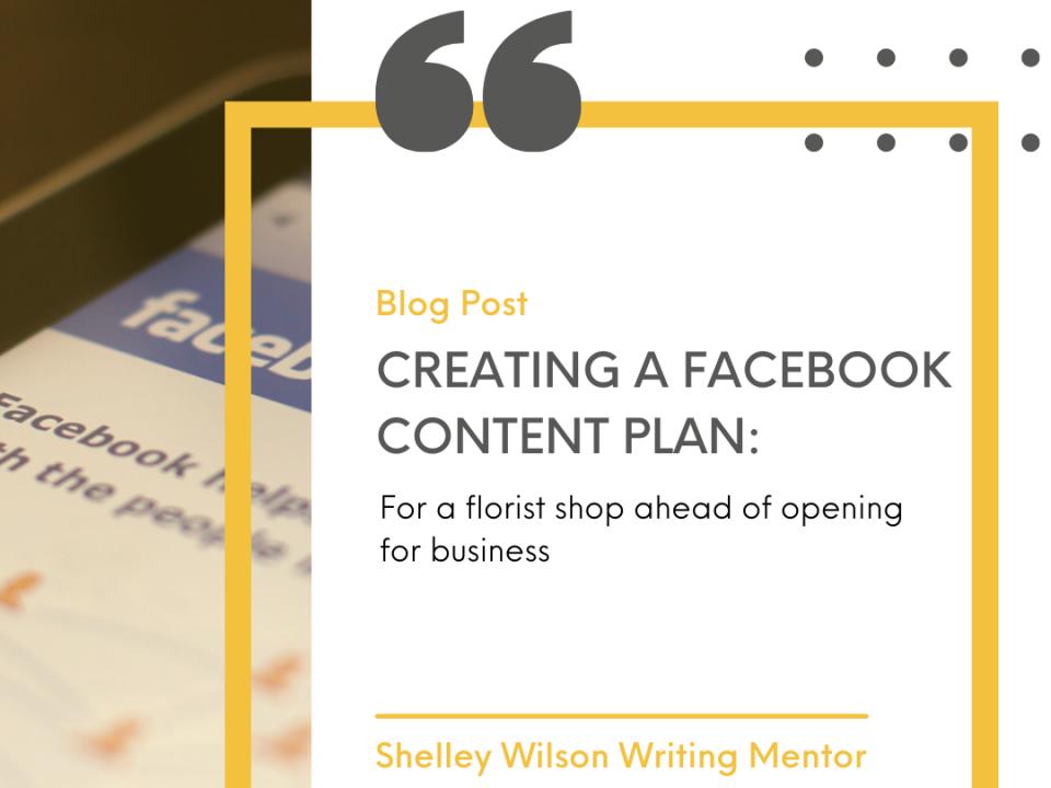Creating a Facebook Content Plan | Business content | Bramble Bees Florist